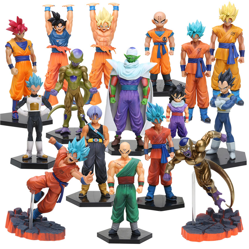 10 26cm Dragon Ball Z DXF Figures Trunks Vegeta Super Saiyan God Son Gokou Freeza Kuririn Collectible Model Toy Dragonball Dolls-in Action & Toy Figures from Toys & Hobbies