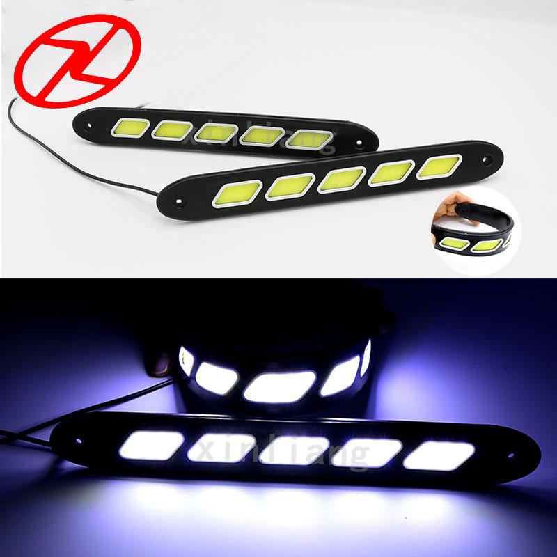 2PCS fleksibilno LED svjetlo za dnevnu vožnju COB DRL Super svijetlo - Svjetla automobila - Foto 2