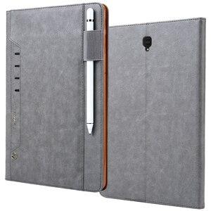 Многофункциональный кожаный чехол в стиле ретро для Samsung Galaxy Tab S4 10,5 дюймов, смарт-чехол с подставкой и картой для Samsung Tab S4 T830 T835