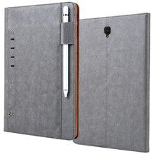 ريترو متعددة الوظائف جلدية حقيبة لهاتف سامسونج جالاكسي تاب S4 10.5 بوصة الأعمال حامل للبطاقة غطاء ذكي لسامسونج تاب S4 T830 T835