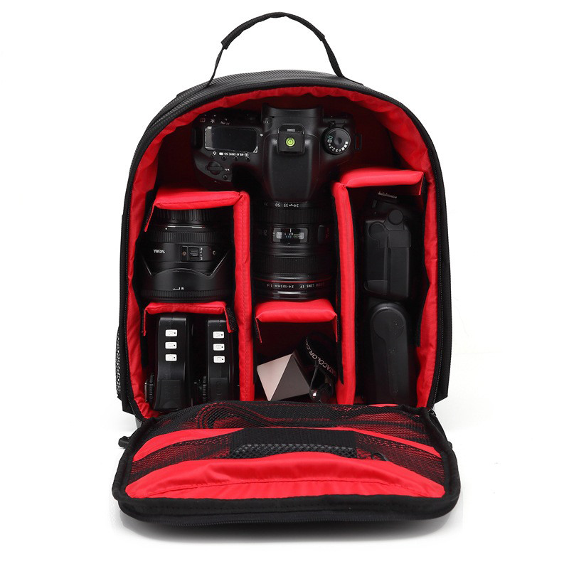 lowest price Waterproof Functional DSLR Backpack Camera Video Bag w  Rain Cover SLR Tripod Case PE Padded for Photographer Canon Nikon
