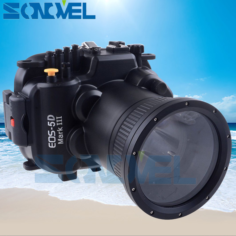 Meikon 40m 130ft Waterproof Underwater Diving Case Camera Housing Case For Canon EOS 5D Mark III 5D 3 with 24-105mm Lens meikon 40m waterproof underwater camera housing case bag for canon 600d t3i