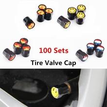 100 комплектов чёрный для автомобильного стайлинга крышки клапанов шин подходят для mercedes renault vw ford bmw TOYOTA Audi nissan Chevrolet Opel аксессуары