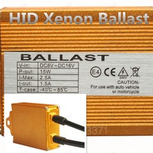 Polarlander 2pcs Free Shipping 12V 35W HID Xenon Ballast Digital Slim Gold Ballast for all any hid lamps
