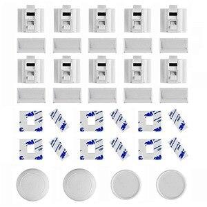 Image 3 - 10 замков, 2 ключа, магнитный Набор замков для безопасности детей