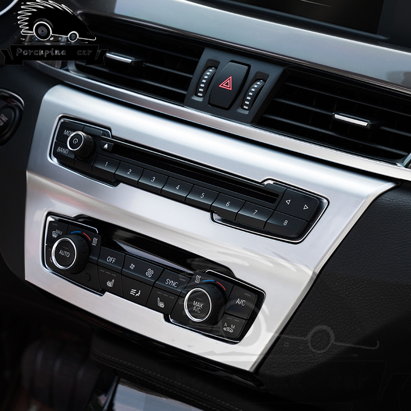 1 Piece ABS Chrome Plated Sticker Air Conditioner Control