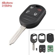 Portable 4 Buttons Keyless Uncut Flip Remote Key Fob with ID63 Chip 80 Bit for Ford 2011-2015 Explorer / Ford 2011-2016 F-Series цена в Москве и Питере