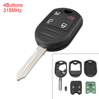 Portable 4 Buttons Keyless Uncut Flip Remote Key Fob with ID63 Chip 80 Bit for Ford 2011 2015 Explorer / Ford 2011 2016 F Series