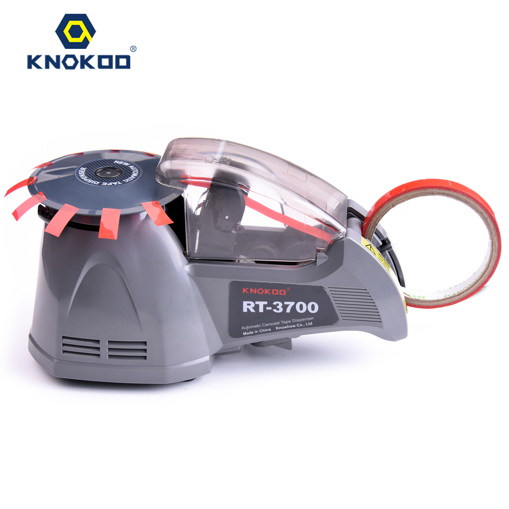 KNOKOO ELectric Automatic Packing Adhesive Tape Dispenser RT-3700 Tape Cutter Machine automatic tape dispensers electric tape dispensers automatic tape cutter machines automatic tape dispensing machines