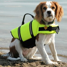 Pet Dog Life Jacket Safety Clothes Vest Collar Harness Saver Swimming Preserver Summer Swimwear
