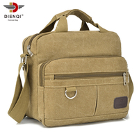 DIENQI Famous Brand Vintage Briefcase Canvas Bag Men S Handbags Casual Travel Bolsa Masculina Men Crossbody