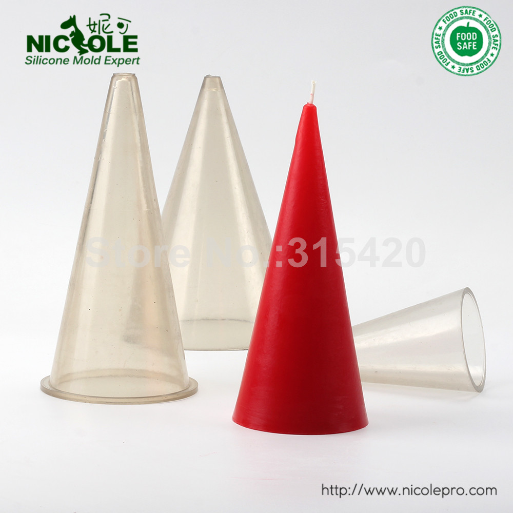 Cheap Price Handmade Plastic Premium PVC Cone Shaped Plastic Candle Molds