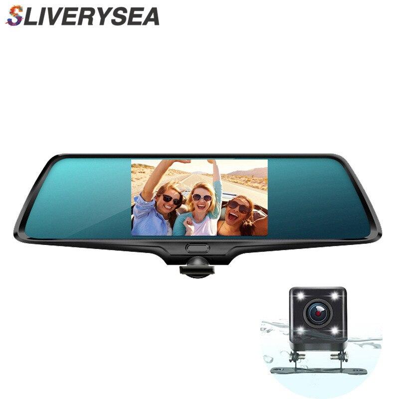 SLIVERYSEA Panorâmico Full HD 1080 P Espelho Retrovisor Do Carro DVR de 360 Graus Da Câmera Filmadora Câmera de Vídeo Recorder # B1278