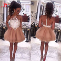 Fashion Short Cocktail Dresses With See Through Back Robe de soiree courte Mini Prom Party Gowns Elegant Special Occasion
