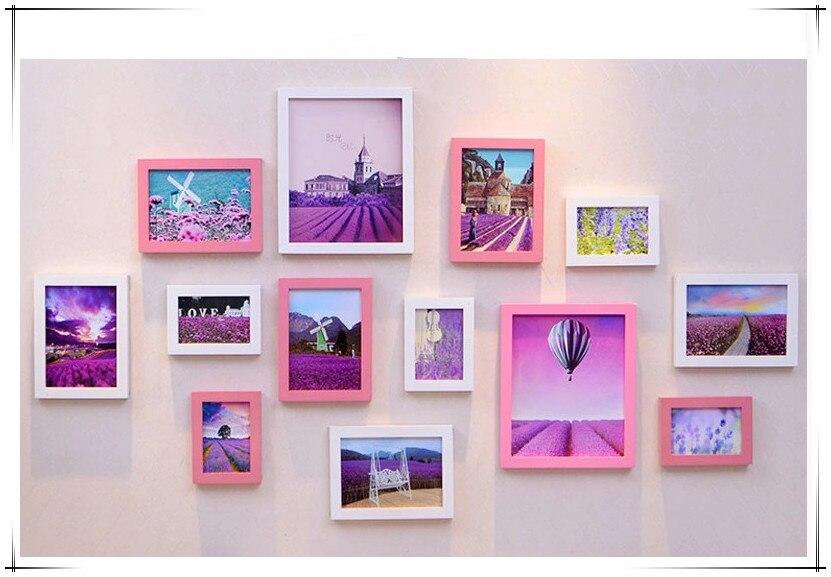 Barato marcos de cuadros Portaretrato infantiles, moda hermosa rosa ...