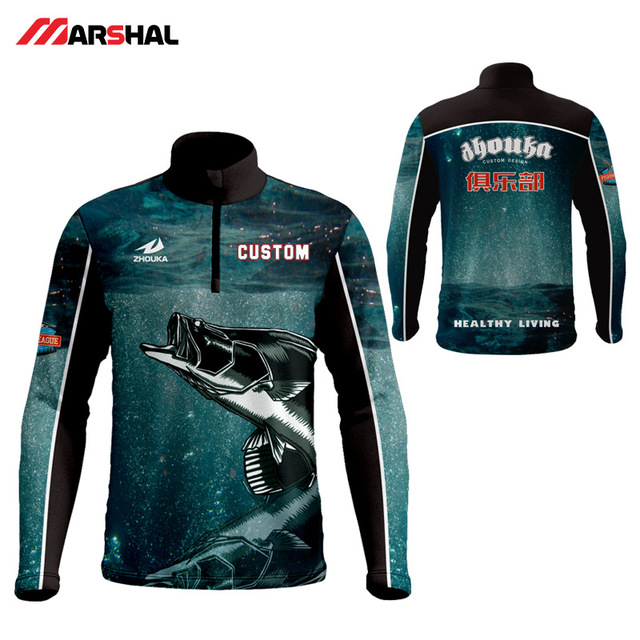 a276816a2 Professional design your own performance long sleeve tournament full  sublimation fishing shirts