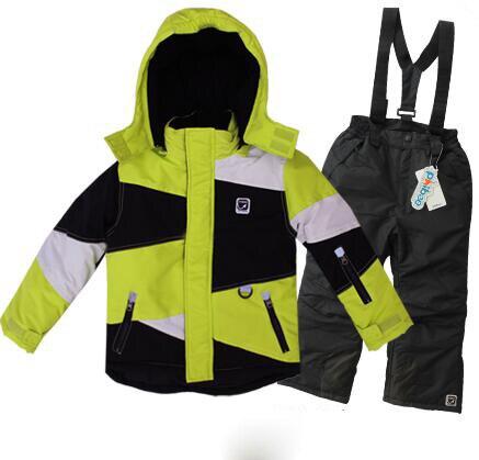 Детская зимняя одежда набор ветрозащитный лыжные куртки + брюки дети зима снег наборы мальчики открытый теплый костюм 5-20 Т