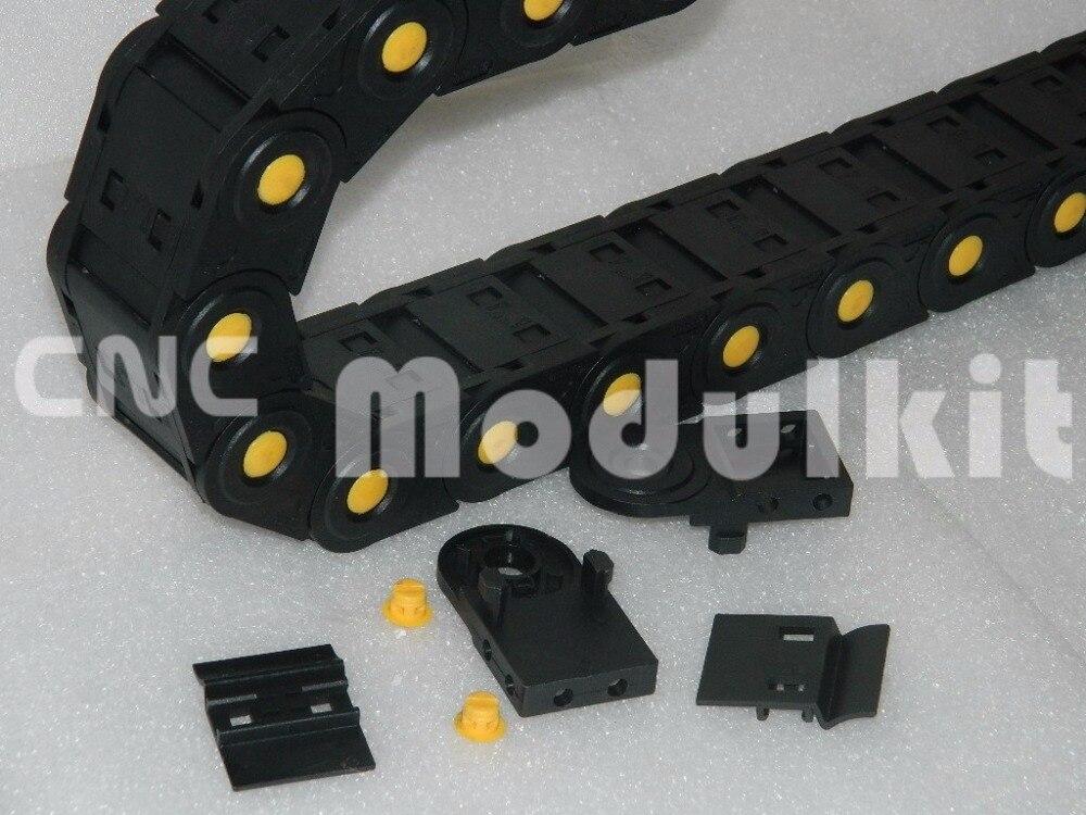 Heimwerker Hardware Industrie Kunststoff Nylon Kabel Drag Kette Draht Träger Interne Größe 35x75 Geschlossen Gelb Punkt & Anschlüsse Von Cnc Modulkit