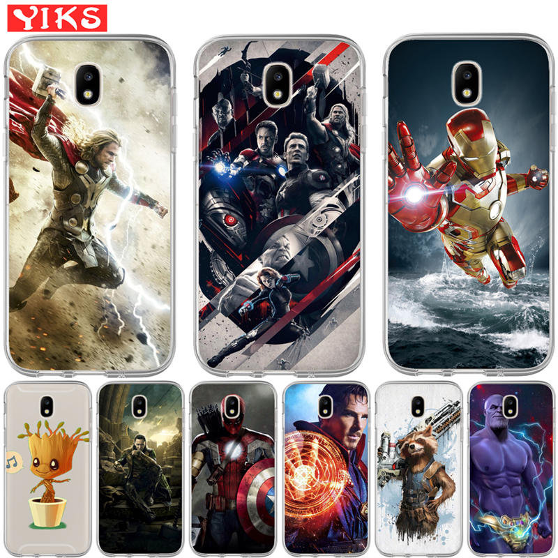 Luxus <font><b>Marvel</b></font> Avengers softphone Fall Für <font><b>Samsung</b></font> <font><b>Galaxy</b></font> J2 J3 <font><b>J5</b></font> J7 Prime 2016 2016 <font><b>2017</b></font> EU G530 Back <font><b>Cover</b></font> Coque Etui image