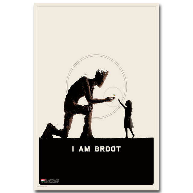 GROOT – Guardian of The Galaxy Art Silk Fabric Poster Print 13×20 24×36 inch Superheroes Movie Picture for Room Wall Decor 006