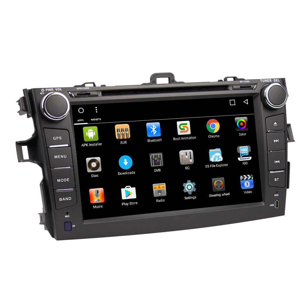2 din Android 6.0 car dvd player for Toyota Corolla 2007 2008 2009 2010 2011 Quad Core 8 inch 1024*600 screen car stereo radio