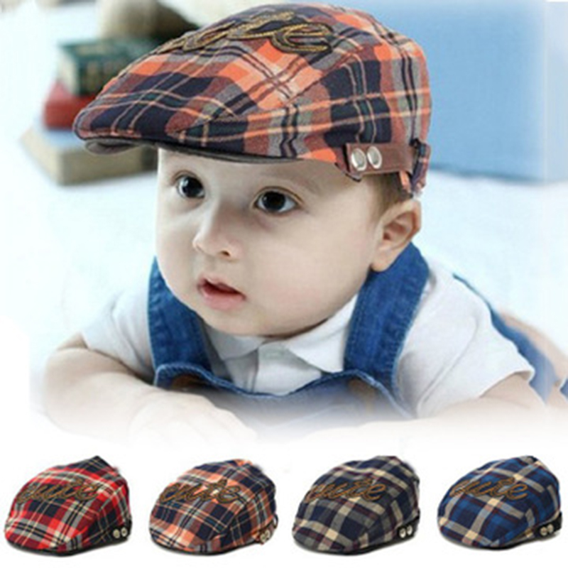 871662929a9 Detail Feedback Questions about Kids Beret Cap Baby Hat Cap for boys girls  Plaid Cool Flat Gatsby Newsboy Caps newborn Photography Accessories  children s ...