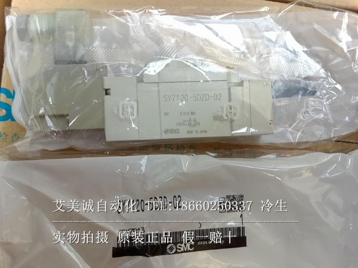SMC solenoid valve SY7120-5DZD-02 new original genuine new laser marking [sa] new japan genuine original smc solenoid valve vqd1131w 5m m5 spot 2pcs lot