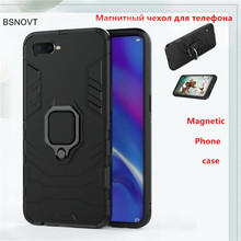 For OPPO K1 Case Hard Bumper Magnetic Finger Ring Phone Holder Anti-knock Phone Case For OPPO K1 Cover For OPPO K1 Funda BSNOVT цена 2017