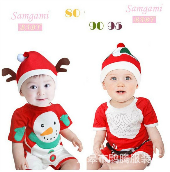 Christmas,new year,new 2015,summer clothing,newborn,baby boy romper,baby girl bodysuit,kids  wear,infantil boy shorts new