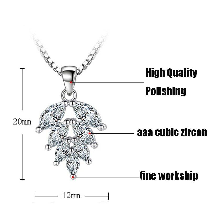 silver zircon pendants necklaces (7)