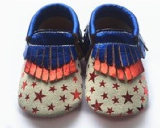 12 par/lote Nuevos Mocasines Zapatos de Bebé de Cuero Genuino Comienza A Rayas Impreso Zapatos de Bebé Recién Nacidos prewalkers niño Bebe Zapatos