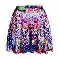 NEW 1101 Summer Sexy Girl Comics Detective batman Robin Printed Cheering Squad Tutu Skater Women Mini Pleated Skirt Plus Size
