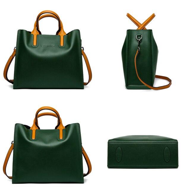 Genuine Leather Bag Ladies Handbag Women Shoulder Bag Women Messenger Bag Female Tote Bag 1