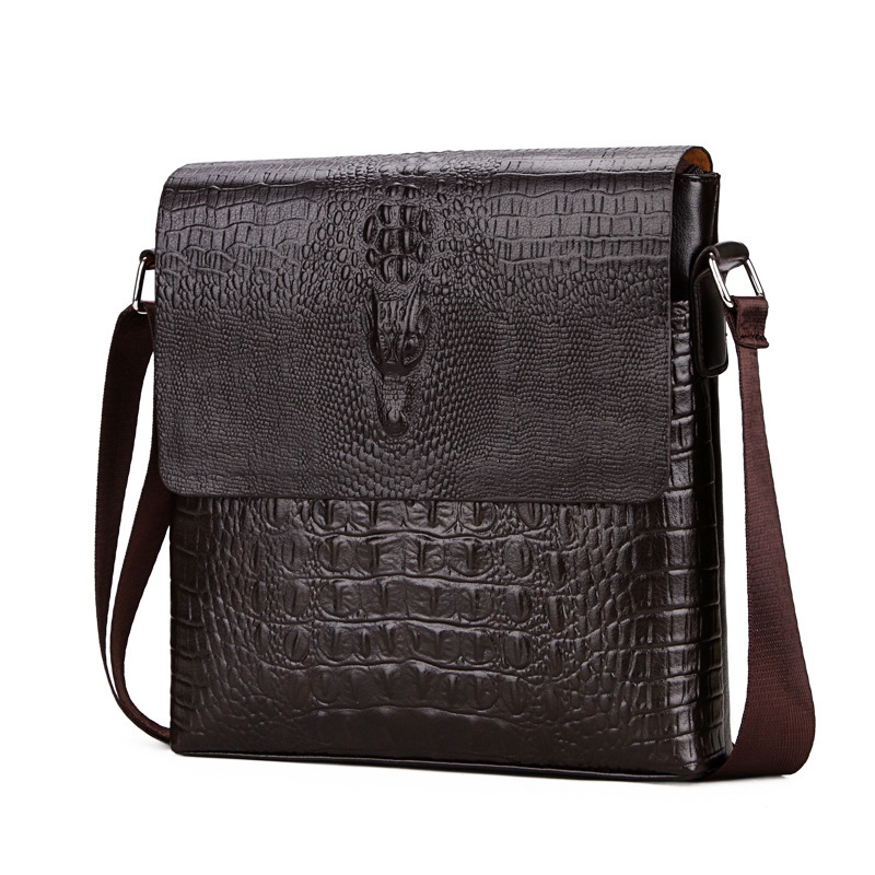 Alligator Pattern Men Messenger Bag Male Men Bags Business Leather Black Shoulder Bag Small Crossbody Bags