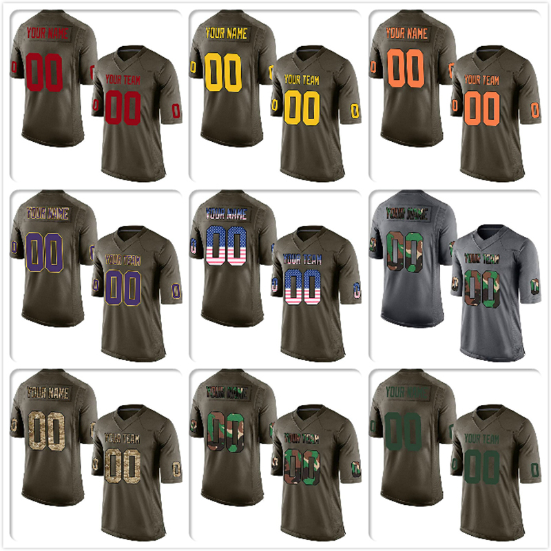 c6651a0d2b2 Detail Feedback Questions about Custom Camo Salute To Service Replica High  School College Football Jersey Embroidered Team Logo Name And Your Number  Adult ...