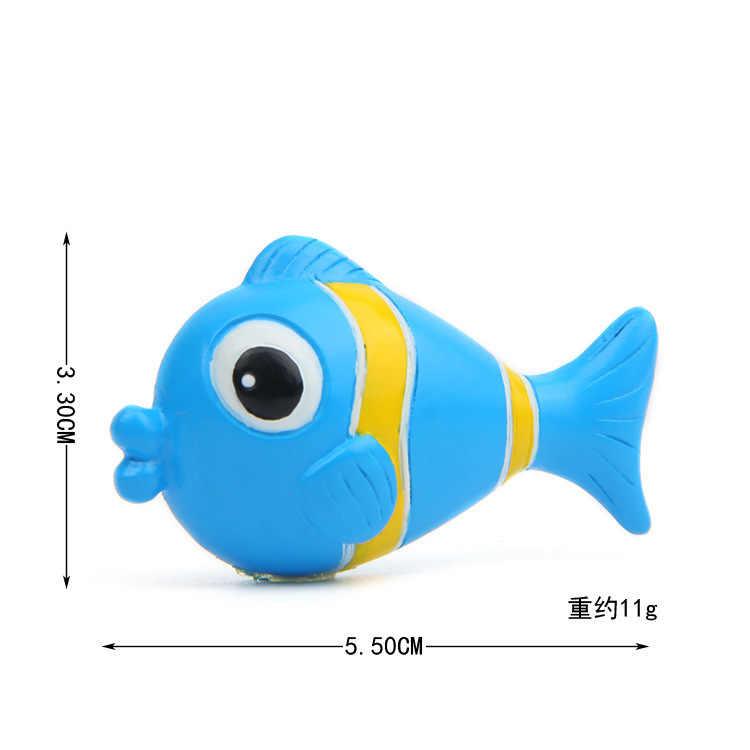 Colorido Dos Desenhos Animados Dos peixes 3D Action Figure Ímã Padrão Dos Desenhos Animados Ímã de Geladeira Adesivos Crianças Brinquedo Educativo Presente de Aniversário