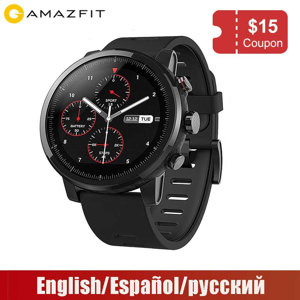 Xiaomi Huami Amazfit Stratos 2 Amazfit Pace 2 Smartwatch with GPS PPG Heart Rate Monitor 5ATM
