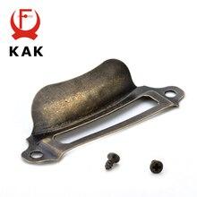 10pcs KAK Antique Brass Metal Label Pull Frame Handle File Name Card Holder For Furniture Cabinet Drawer Box Case Hardware