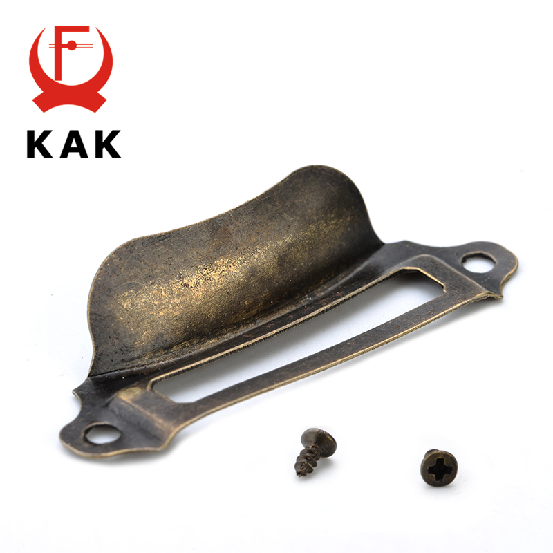 10pcs KAK Antique Brass Metal Label Pull Frame Handle File Name Card Holder For Furniture Cabinet Drawer Box Case Hardware 12pcs set antique brass metal label pull frame furniture handle file name card holder for furniture cabinet drawer box case bin