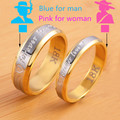 2016 New arrival gold plated forever Love letter jewerly accessories Women & Men wedding pair Couple Rings