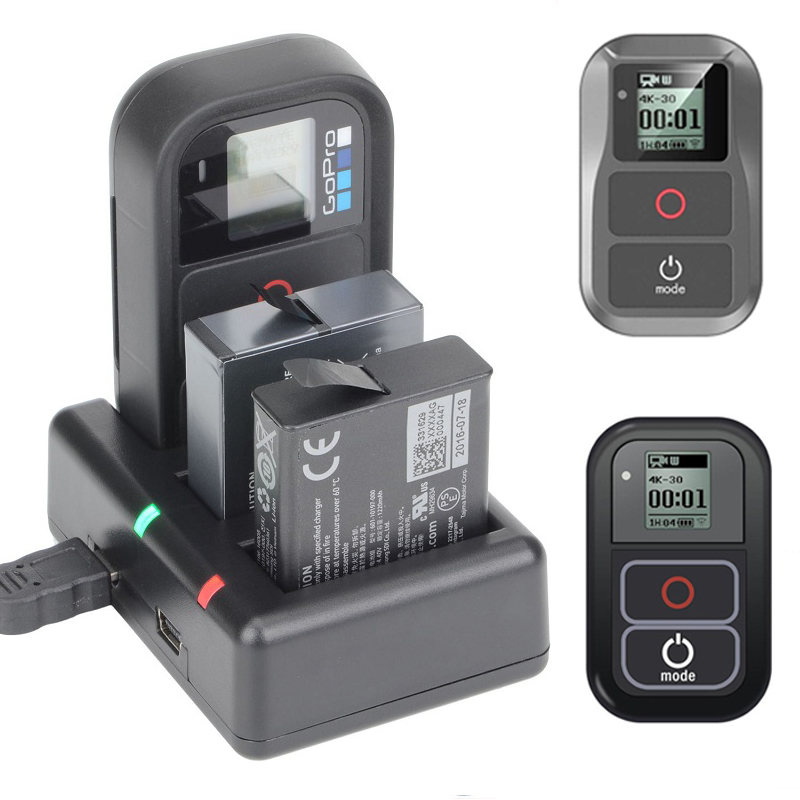 Go Pro <font><b>Remote</b></font> <font><b>Control</b></font> and Battery Charger for <font><b>GoPro</b></font> Hero 7 Hero6 Hero5 for <font><b>GoPro</b></font> Hero7 hero 6 Hero 5 Action Camera Accessories image