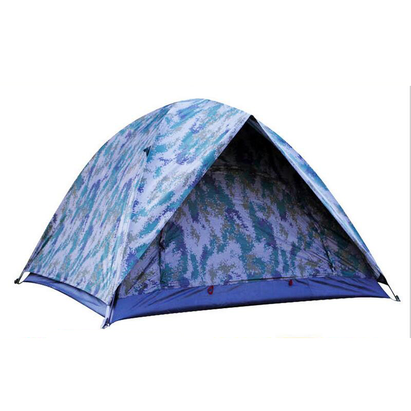 ФОТО Camouflage double-door double layer tent camping 3-4 person outdoor shade canopy tourist beach tent  hunting tents