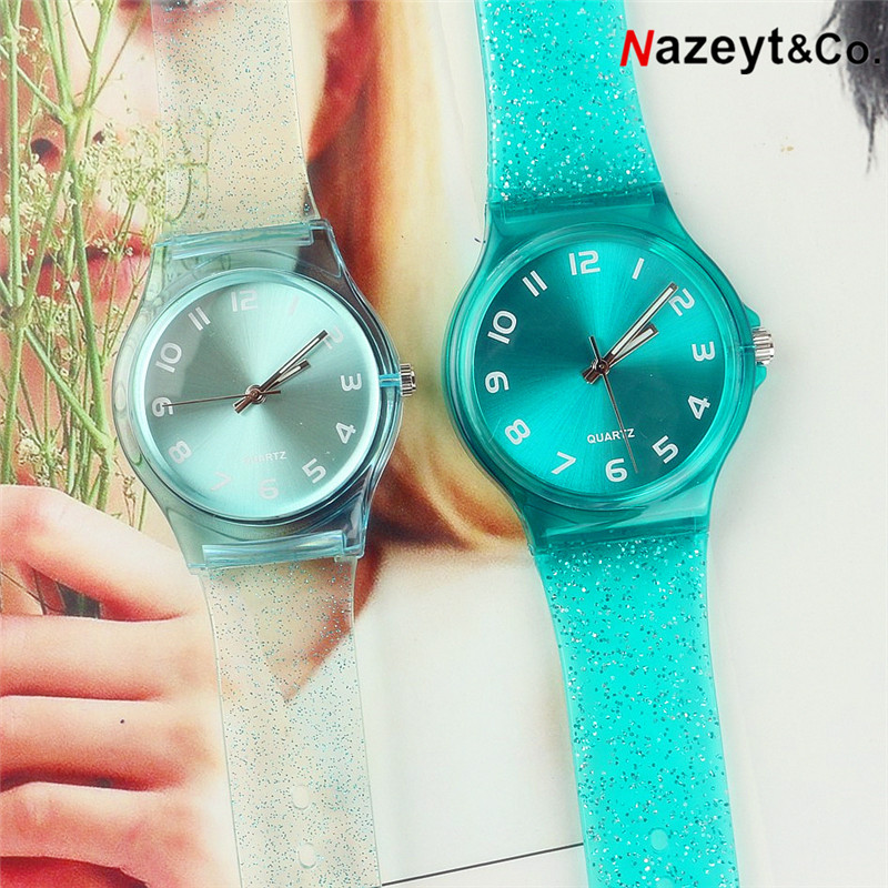Dropshipping 2019 New Fashion Couple Watch Woman Man Student Glitter Dial Silicone Waterproof Watch Boys Girls Jelly Gift Clock