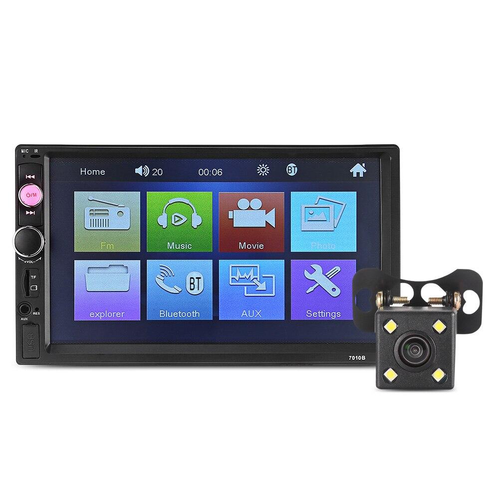 Nouveau 7010B 7 pouces 2 Din lecteur Radio FM USB Bluetooth voiture MP5 lecteur soutien Streering-roue vue arrière caméra Autoradio