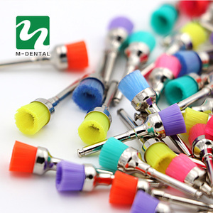 Image 2 - 50 pcs Colorful Dental Polishing Brush Polisher Prophy Rubber Cup Latch Nylon For Dentistry Lab