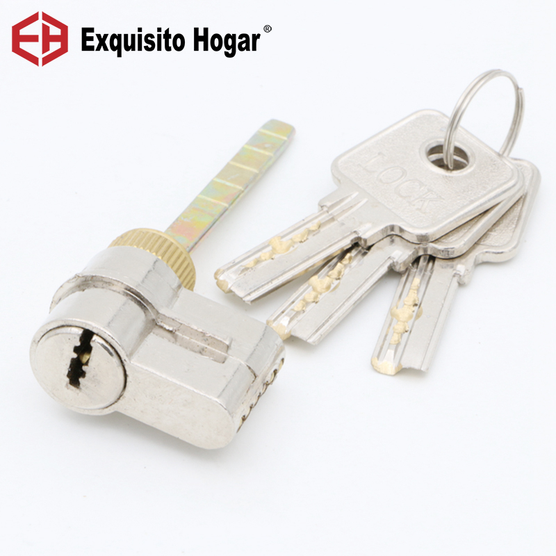 Locking Lock Door Cylinder Handle Pressure Lock Key Brass Interior Door 11# Single Hardware Core Rod