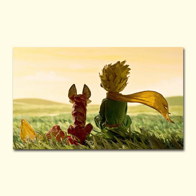 little Prince Cartoon Anime game simplicity Cartoon painting Coloring adult hand drawing Diy digital oil painting fox