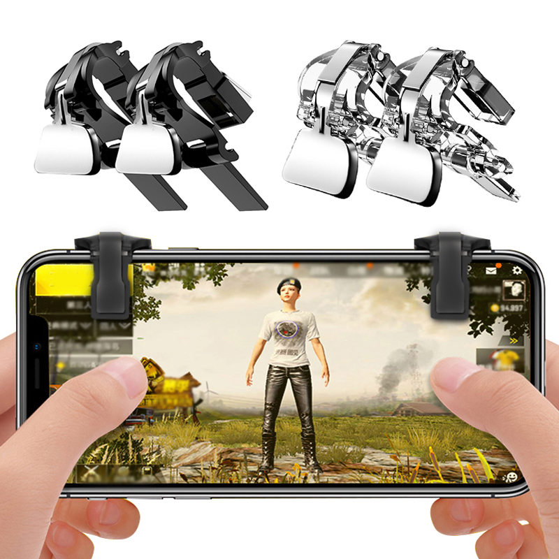 1 Pair For PUBG Mobile Game Fire Button Aim Key Smart phone Gaming Trigger L1 R1 Shooter Controller