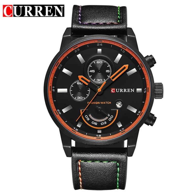 Top Marke Luxus männer Sport Uhren Mode Lässig Quarzuhr Männer Military Armbanduhr Männlich Relogio Uhr CURREN 8217