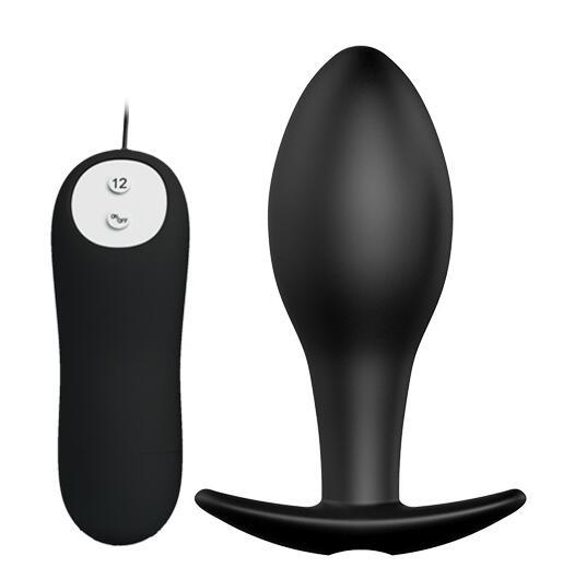 Buy 12 Frequency vibration Prostate Massager Anal vibrator plug Vibration Anal Beads Anal sex toys Butt Plug Sex toys men women